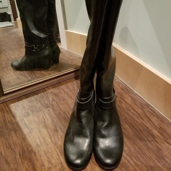 Women's black dress boots, size 9 1/2